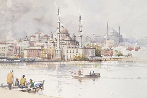 City view across The Golden Horn, 1986
