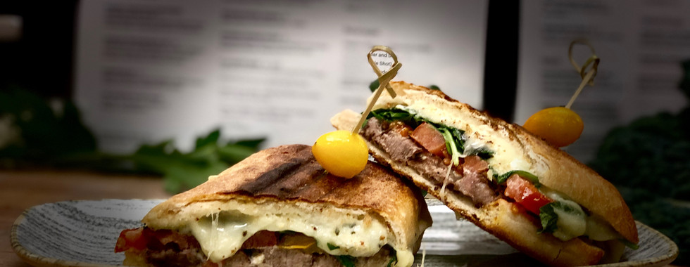 Seven Hills Steak and Chedder Panini