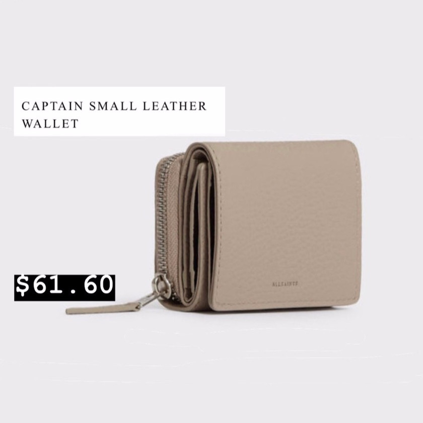All Saints - Womens Captain Small Leather Wallet