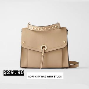 Soft City Bag with Studs