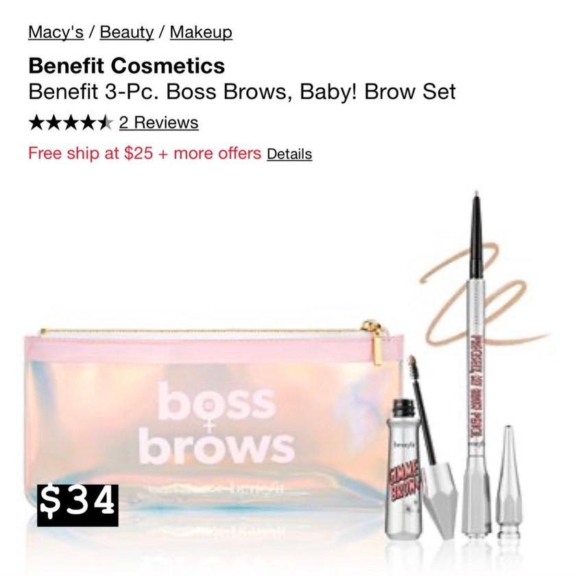 Benefit Cosmetics 3-pc Boss Brows Baby! Brow Set