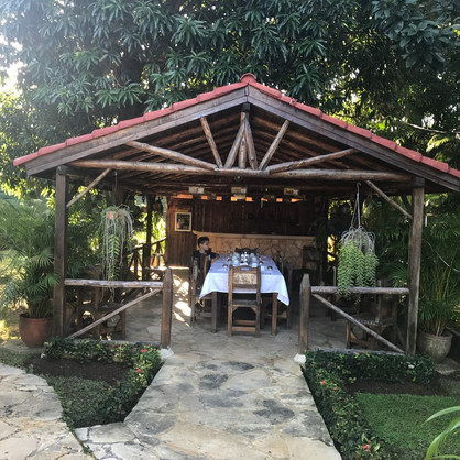 Our Airbnb had this cute little cabana in our backyard, this is where we had breakfast every morning and dinner as well.