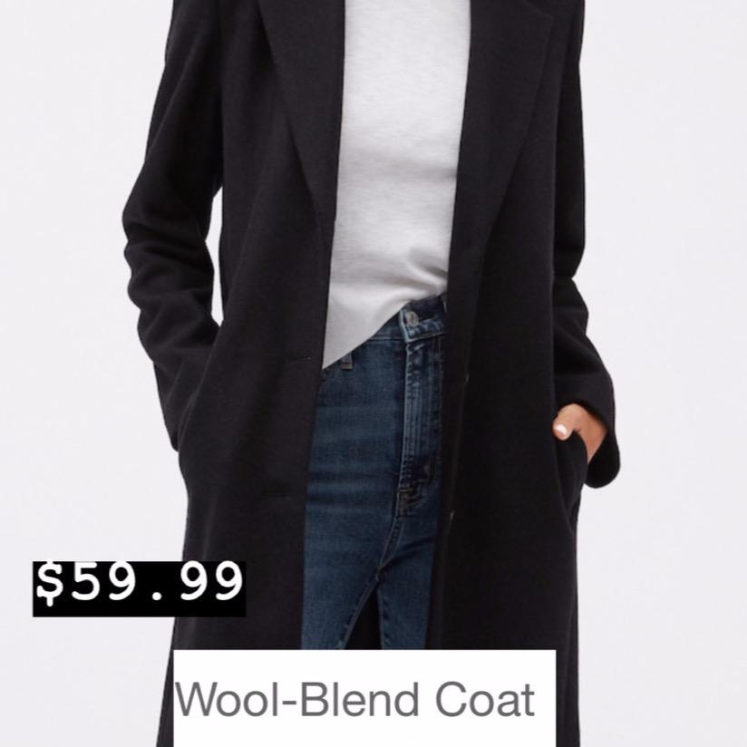 GAP- Wool Blend Coat