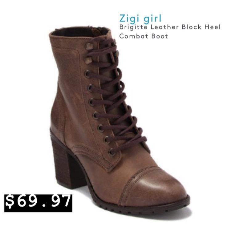 Zigi Girl - Combat Boot with Heel
