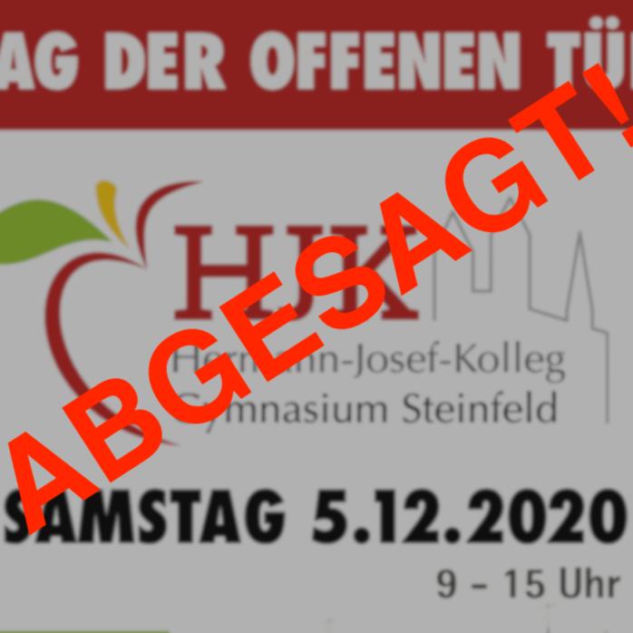 Tag der offenen Tür am HJK Steinfeld abgesagt