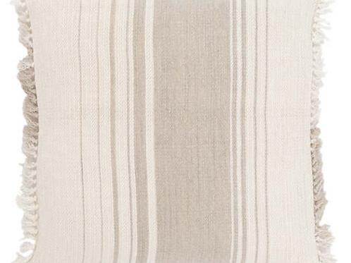 Linen Stripe Natural Decorative Pillow