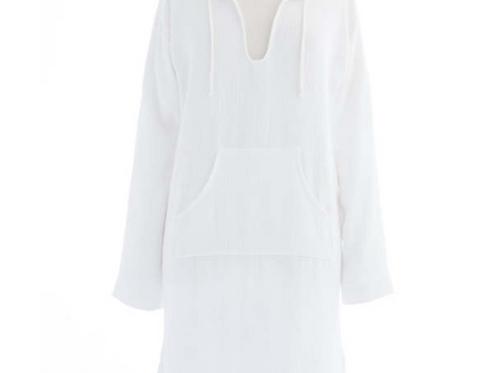 White Hooded Beach Tunic