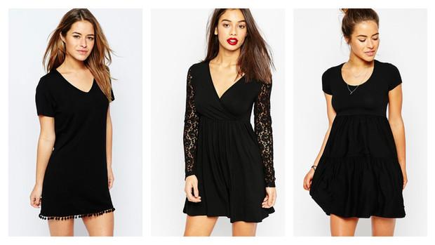 Petite robe noire pour morphologie en h
