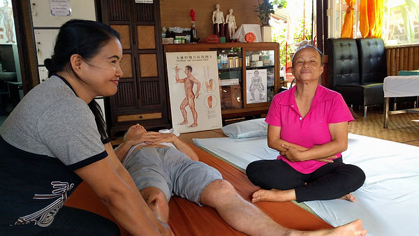 Aides Noc and So-Wing at Sirichan Clinic, Chiang Mai, Thai Massage Techniques for Remedial Massage and Myotherapy