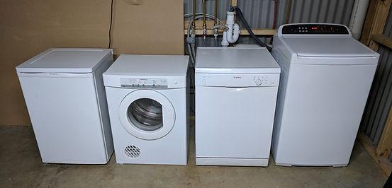 Massage room white goods...washing machine, dryer, dishwasher, refrigerator