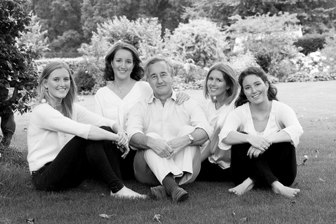 Black and white family portraiture-Janie Critchley