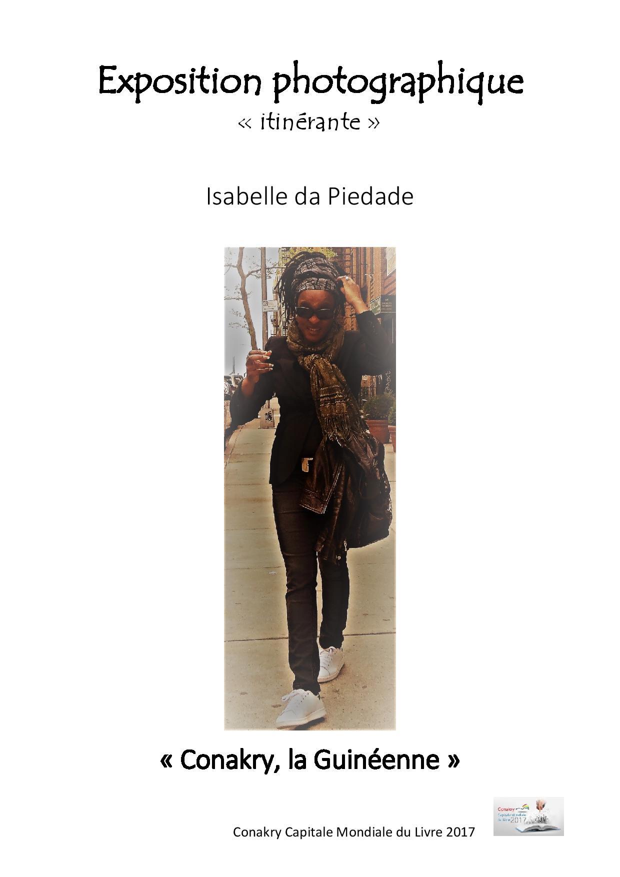 Isabelle da Piedade Affiche expo photos.