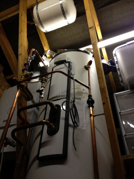 Boiler and cylinder installation NPS