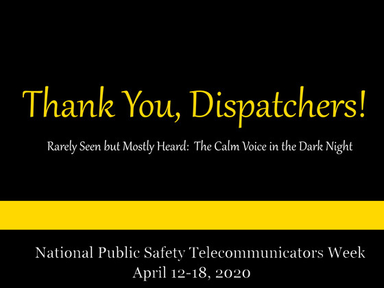 National Public Safety Telecommunicator's Week 2020