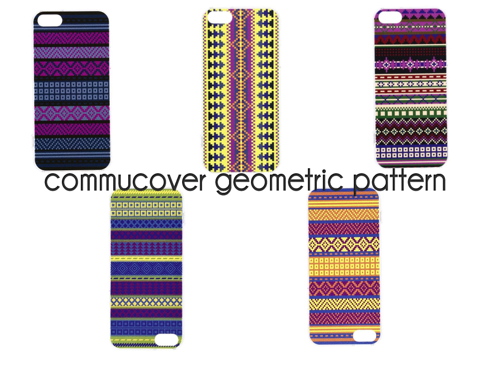 commucover geometric pattern