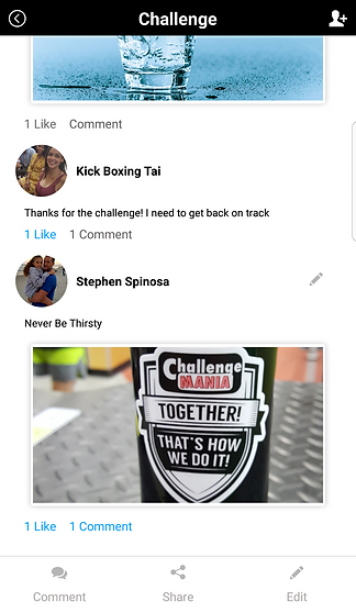 Challenge Mania App Comments