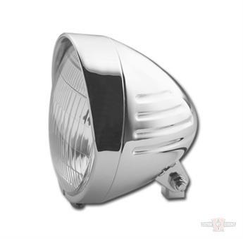 """6.5"""" Headlight With Ribbs+Visor"""