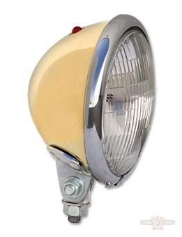 """Brass 5-3/4"""" Headlights Bates Style with Chrome Ring"""