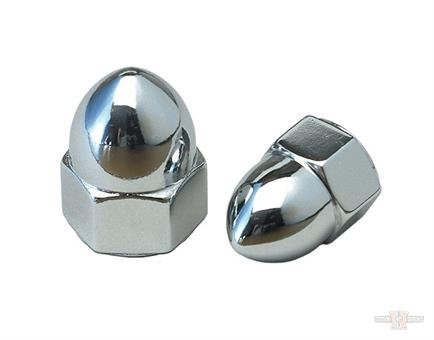 CHROME ACORN NUT-3/8-16