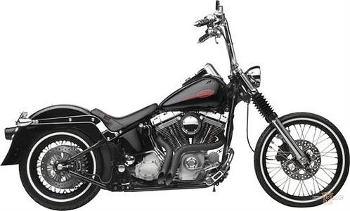 Black 2 L.A.F. Pipes Softail 12Up