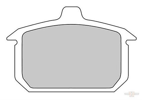 Brake Pad OEM Caliper Rear, Organic PRP-Compound