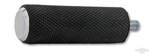 Knurled Rubber Brake/Shift Peg, chrome