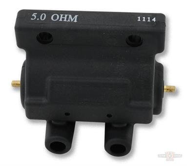 Ignition Coil, Molded, Black, 5 Ohm