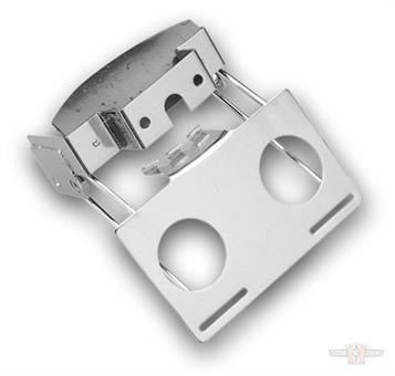 Chrome License Bracket for Fat Bob Fender