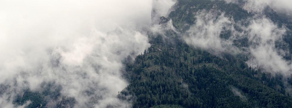 Brume sur les montagnes