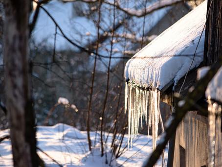 Sople - zimowe niebezpieczeństwo