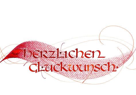 """Klappkarte """"Glückwunsch"""" Unziale"""