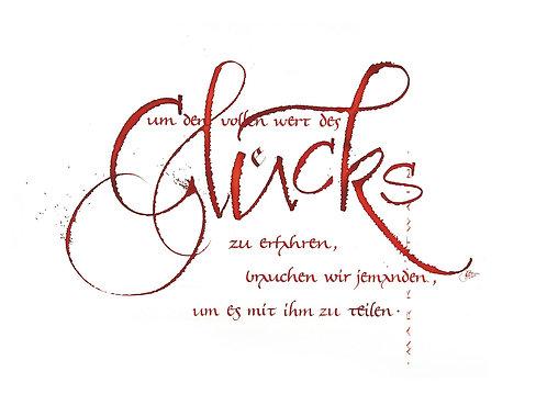 "Klappkarte ""Glücks"""