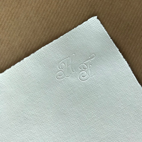 Papier Nr. 3 mit Monogrammprägung