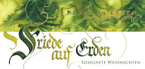 """Klappkarte """"Friede auf Erden"""""""