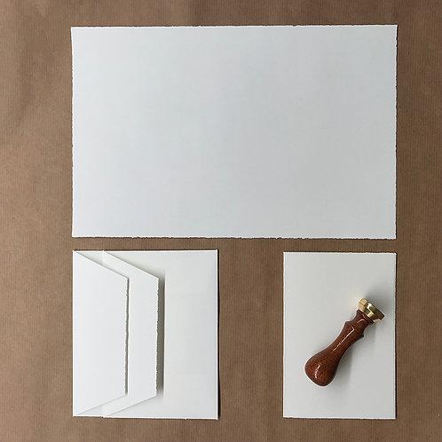 Musterpack Briefpapier ohne Prägung