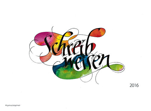 Kalligrafie-Kalender 2016, innen immerwährend