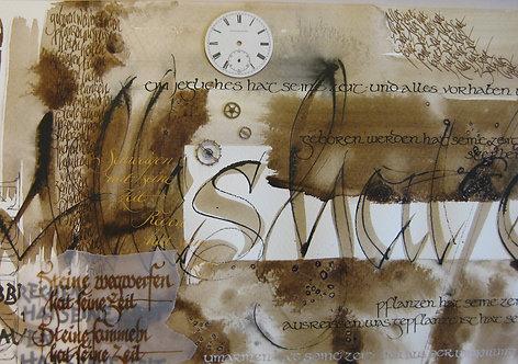 """Postkarte """"Alles hat seine Zeit"""""""