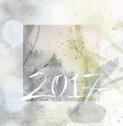 Kalligrafie-Kalender 2017, innen immerwährend