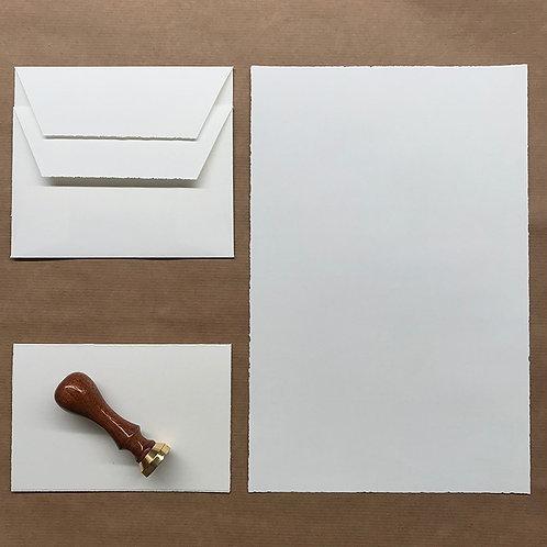 Musterpack Briefpapier mit Prägung