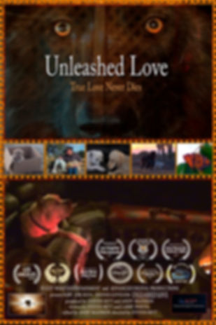 Unleashed Love Movie Poster With Animal Scenes From The Film