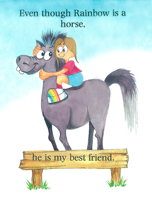 """Children's Book - """"HORSES DON'T BELONG IN THE HOUSE!"""""""