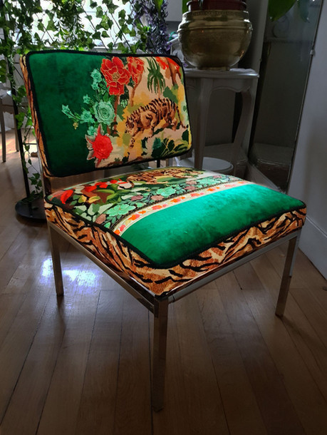 Upcycling chaise basse année 70 n