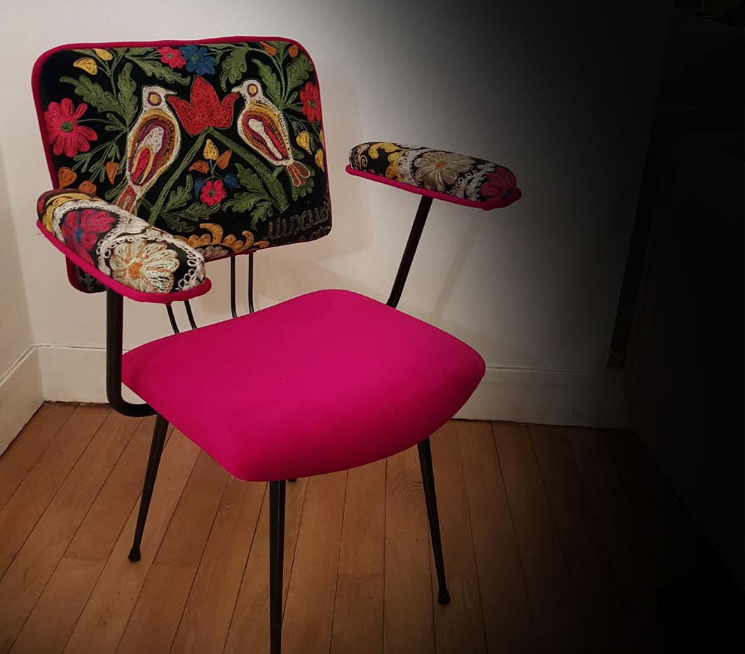 Upcycling de fauteuil CAUSERIE NOCTURNE
