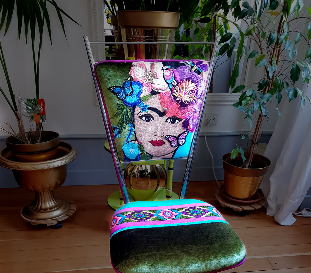 RELOOKING-CHAISE-FRIDA-VERTE 3