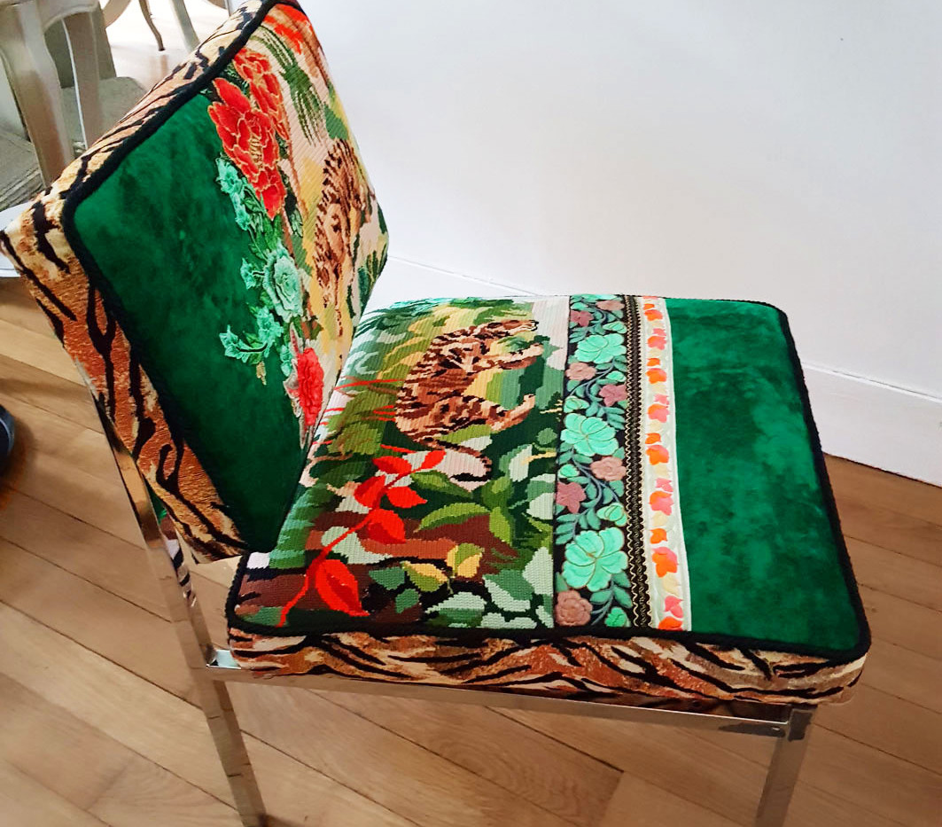 Upcycling chaise basse année 70 k