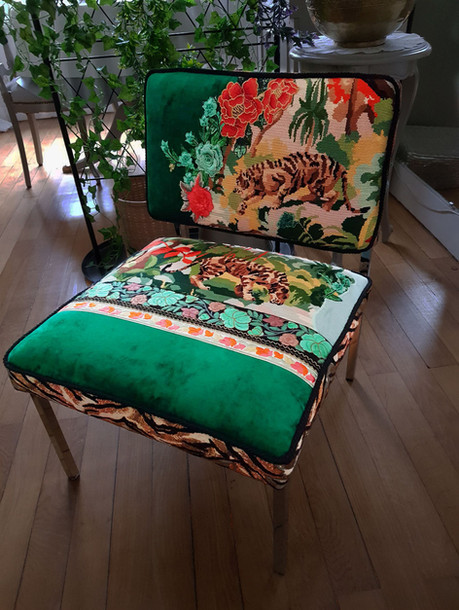 Upcycling chaise basse année 70 m