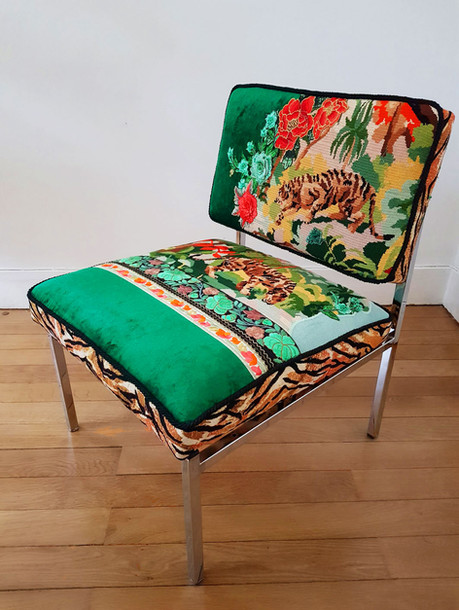 Upcycling chaise basse année 70  c