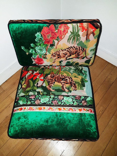 Upcycling chaise basse année 70 d