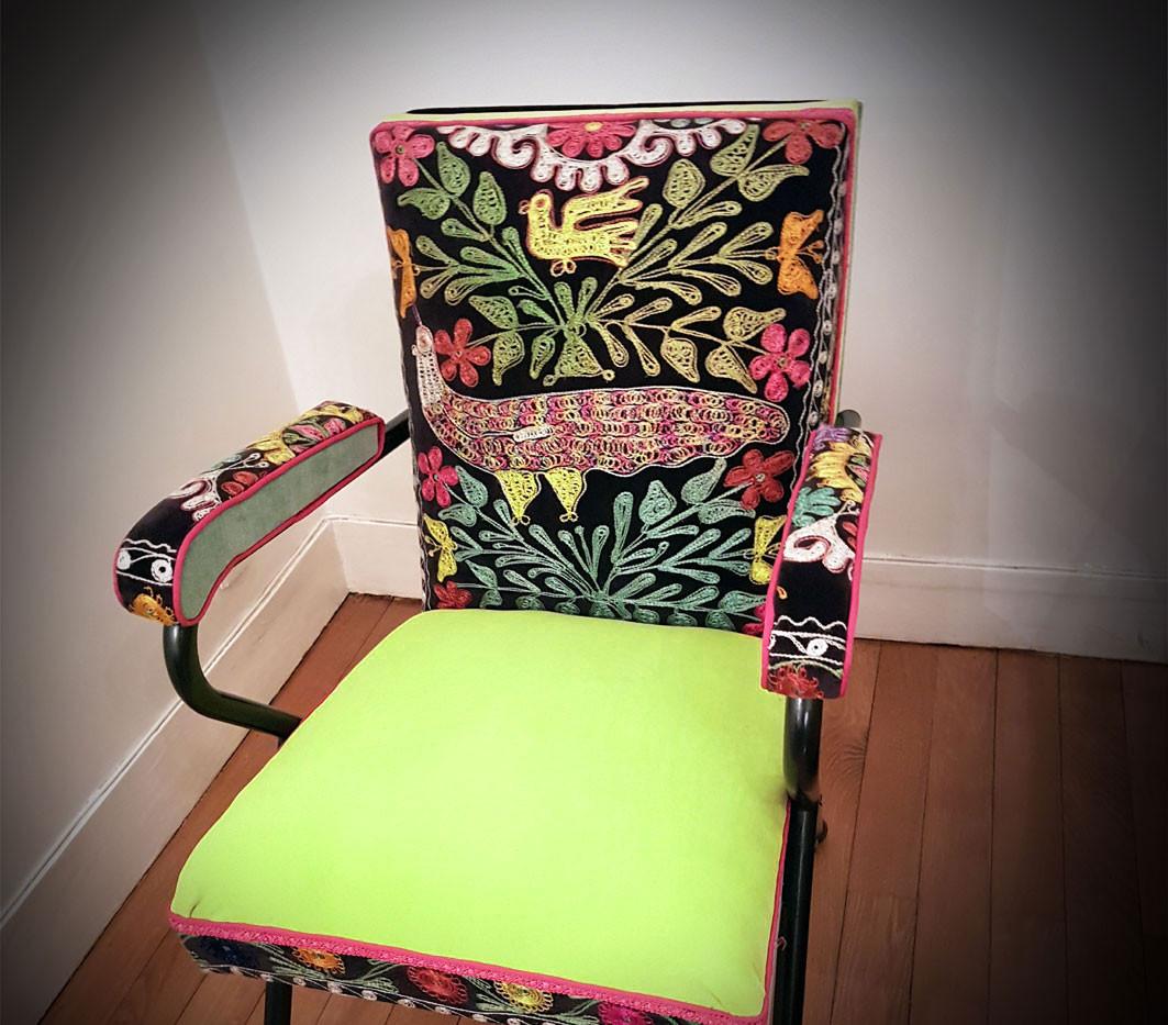 Upcycling de fauteuil L-OISEAU-DE-PARADIS