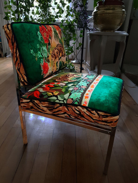 Upcycling chaise basse année 70 e